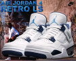 "NIKE AIR JORDAN 4 RETRO LS ""COLUMBIA wht/legend blu m.nvy"