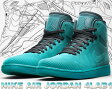 NIKE AIR JORDAN 4LAB1 blk/teal