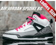 【ナイキ ジョーダン レディースサイズ】NIKE AIR JORDAN SPIZIKE GS wht/h.pnk-blk-cl grey