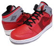 【ナイキ ジョーダン レディースサイズ】NIKE AIR JORDAN 1 RETRO 89 GS fire red/blk-cmnt gry-wht