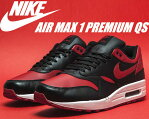 お得な割引クーポン発行中!!NIKE AIR MAX 1 PREMIUM QS blk/v.red-wht