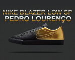 "最大2,000円OFFクーポン発行中!★お求めやすく価格改定★NIKE BLAZER LOW SP ""PEDRO LOURENCO"" blk / metallic gold"
