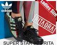 ★お求めやすく価格改定★【アディダス スーパースター 80'S リタ】adidas SUPER STAR 80'S RITA W cblk/cblk/byello