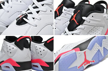 "�ڥʥ������硼����6��NIKEAIRJORDAN6RETROLOW""INFRARED""wht/infrared23-blk"
