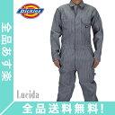 [全品送料無料]Dickies ディッキーズ メンズ Cotton Coverall カバーオール Fisher Stripe フィッシャーストライプ ワークパンツ 長袖つなぎ