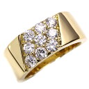 程よい幅 ダイヤモンド 1.0カラット リング/指輪 18金イエローゴールド K18 ギラギラ1
