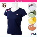 ゲームシャツ/レディース(VL1560)《フィラ テニス・バドミントン ウェア(レディース)》