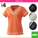 [プリンス テニス・バドミントンウェア(レディース)]ゲームシャツ/レディース(WL6077)