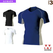 Vネックインナーシャツ/半袖/ユニセックス(P7030)《wundou(ウンドウ) オールスポーツ アンダーウェア》