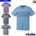 グラフィックTシャツ/メンズ(R7S12T)《ローチェ(roche) テニス・バドミントン ウェア(メンズ/ユニ)》