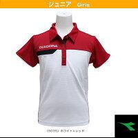 JRゲームシャツ/ガールズ(TJ5340)《ディアドラ テニス ジュニアグッズ》の画像