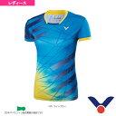ゲームシャツ/レディース(T-76003)《ヴィクター テニス・バドミントン ウェア(レディース)》
