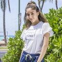 FEEL ALOHA フリルTシャツ/レディース(10192)《Lilly & Emma テニス・バドミントン ウェア(レディース)》