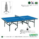 [送料別途]卓球台/内折・連動式(VM-22DX)《ユニバー 卓球 コート用品》