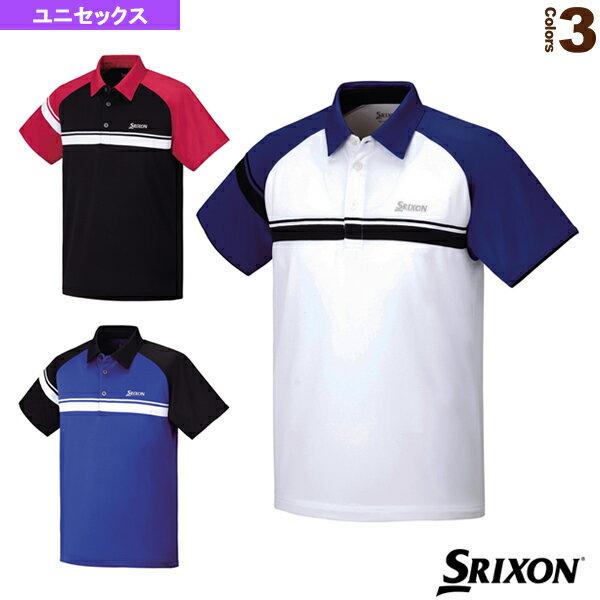 [スリクソン テニス・バドミントン ウェア(メンズ/ユニ)]TEAM LINE/ポロシャツ/ユニセックス(SDP-1550)