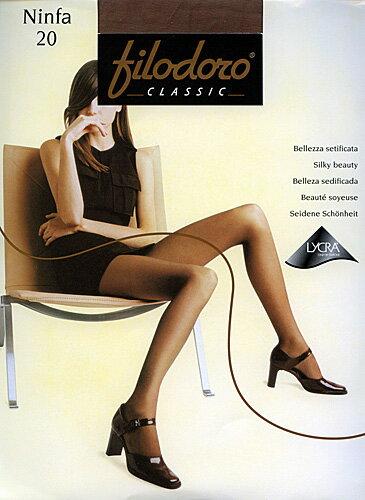 [インポートストッキング/イタリア製]薄手の20デニール。オフィスから、オシャレ履きまで長時間履きでも、疲れない。XLサイズあります。フィロドーロ/ニンファ20 05P24Oct15