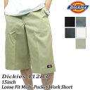 Loose Fit Multi-Pocket Work Short 全5色 メンズ ワーク系 パンクロック 通販 ファッション おすすめ 通販/正規品 41283 ディッキーズ..