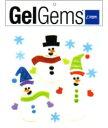 メリークリスマス!貼って剥がして、また貼って!子供から大人までペタペタ遊べる!ジェルジェムバッグS(トリオスノーマン)ジェルジェム(GelGems)バッグS(トリオスノーマン)