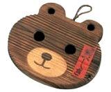 锅垫烧杉 熊34-117L (锅垫?烧烤杉?木制?熊?熊型)[b][鍋敷き 焼杉 クマ 34-117L (鍋しき・焼き杉・木製・くま・熊型) [b]]