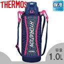 サーモス/THERMOS 真空断熱スポーツボトル FFZ-1001F ネイビーピンク (水筒・魔法瓶・保冷専用・1.0L・1L)