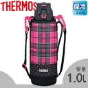 サーモス/THERMOS 真空断熱スポーツボトル FFZ-1001F ピンクチェック (水筒・魔法瓶・保冷専用・1.0L・1L)