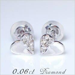 あす楽【大特価SALE】K18【0.06ct】ダイヤモンドハー