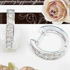 K18 1.0ct エタニティダイヤモンドフープピアス『ライン』1カラット[SIクラス H~Dカラー 無色透明 GOOD~VERYGOOD EXCELLENT H・C]送料無料 18金 18 ゴールド【_包装】【_メッセ】【0824カード分割】 上質なダイヤモンドのループ(輪)が織りなす華やかなボリュームを楽しんで♪セレブリティな女性が自分を輝かせるためのご褒美に