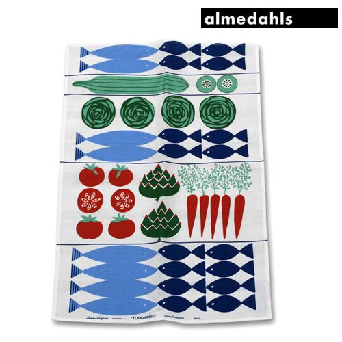 【メール便で送料無料】 almedahls(アルメダールス) キッチンタオル 「マーケット広場」