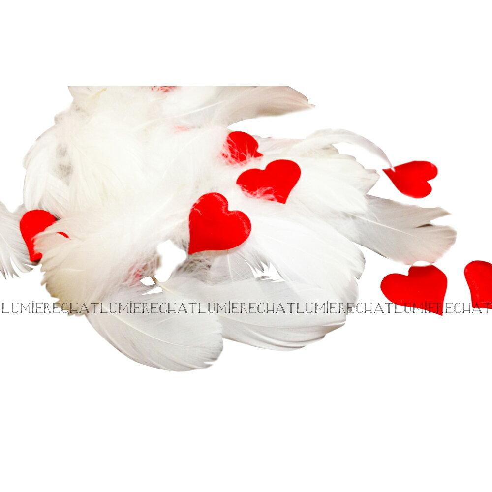 【あす楽】約 50枚 ハート フレーク セット 約 300枚 フェザーシャワー 【 羽 羽根 結婚式 飾り付け 装飾 ウェディング 白 ホワイト 前撮り アイテム DIY コンフェッティ ウェルカムスペース 飾り 】