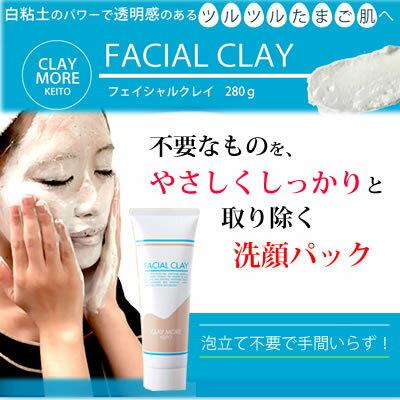 フェイシャルクレイ/泥洗顔泥パック280gクレイパックで毛穴黒ずみ古い角質を取る/皮脂脂肌洗顔フォー