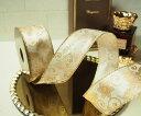 【ルナリボン】3627 アンバー 今年の新作 中巾ワイヤーリボン9M巻 10P03Dec16