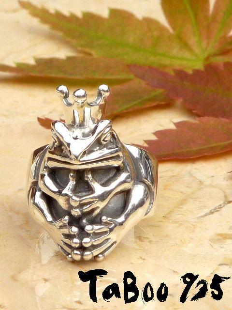 TaBoo925[蛙王様リング] (シルバーアクセサリー/シルバーアクセ/シルバー/シルバー925/Silver925/銀/タブー/蛙/カエル/かえる/リング/指輪/メンズ/レディース/ユニセックス)