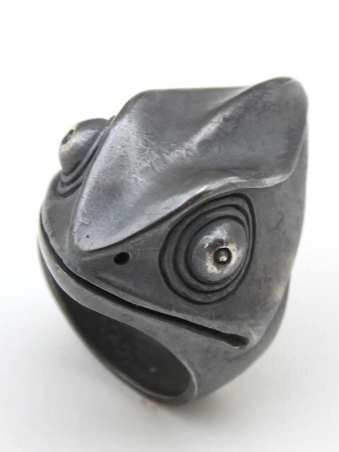 TaBoo925[カメレオンリング] (シルバーアクセサリー/シルバーアクセ/シルバー/シルバー925/Silver925/銀/タブー/蛙/カエル/かえる/ネックレス/ペンダント/メンズ/レディース/ユニセックス/カメレオン)
