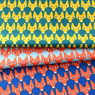Sample half & half cut cloth BRITA SWEDEN RUT Fox Scandinavian fabrics and fabrics patterns