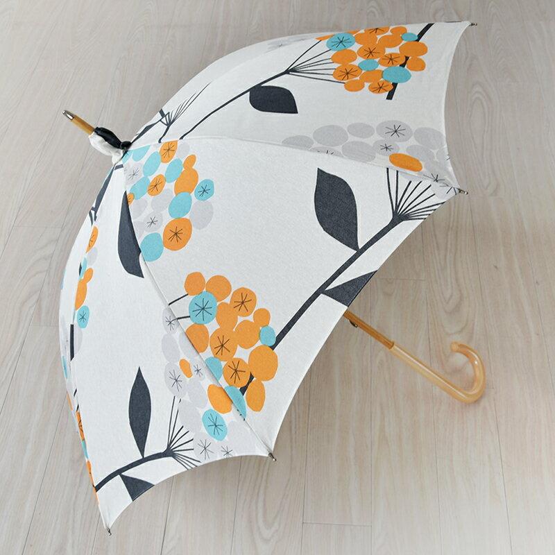 晴雨兼用傘 A.G. PEHRSON エージーパーソン HELENA ヘレナ OR オレンジ 【送料無料!】北欧生地を使用した個性的なパラソル♪【軽い】