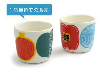 Marimekko Marimekko sublimate latte mugs Kompotti コンポッティ sublimate latte mugs oiva