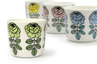 Marimekko Marimekko sublimate latte mugs Vihkiruusu ヴィキルース wedding rose sublimate latte mugs oiva