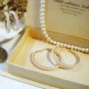 楽天Lune Jewelry2連パールフープピアス【BIG】小粒ホワイトパール☆クラシカルスタイル
