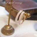 楽天Lune Jewelry2連パールフープイヤリング【Small】 レディスタイルに仕上げに艶やかパールをプラス