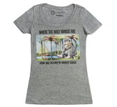 【Out of Print】 Maurice Sendak / WHERE THE WILD THINGS ARE Scoop Neck Tee (Heather Grey) (Womens)