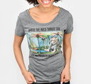 [Out of Print] Maurice Sendak / WHERE THE WILD THINGS ARE Scoop Neck Tee (Heather Grey) (Womens)