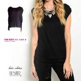 【CLEARANCE】【メール便可】〈SWEET CLAIRE〉サイドウォーターフォールアクセントTシャツ/ロンハーマン RHC Cher ZARA H&M好きにおすすめ/西海岸