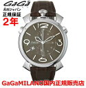 【国内正規品】【売れ筋】 GaGa MILANO ガガミラノ 腕時計 メンズ レディース 時計 MANUALE THIN CHRONO 46mm マニュアーレ46mm クロノ 5097.03BW 【10P03Dec16】