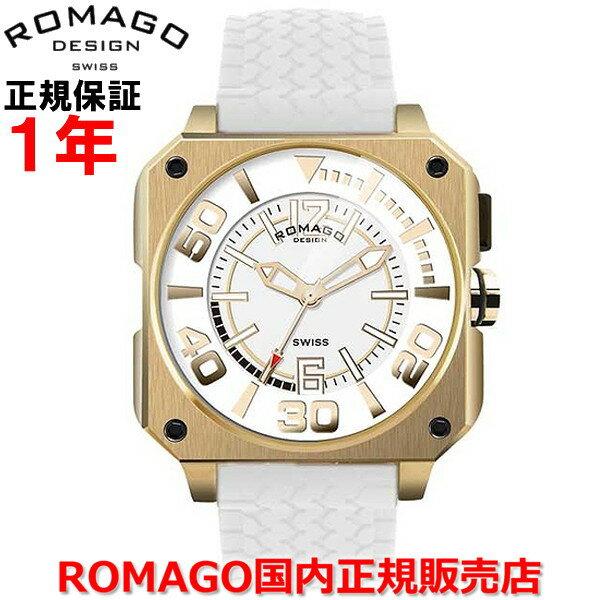 【国内正規品】 ROMAGO DESIGN/ロマゴ デザイン メンズ レディース 腕時計  Cool/クールシリーズ  RM018-0073PL-GD   【10P03Dec16】  通常黒く覆い隠されている文字盤は時間を見る角度(45°)に腕を傾けた時、内蔵イルミネーションが輝きその姿を現す。