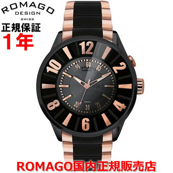 【国内正規品】 ROMAGO DESIGN/ロマゴ デザイン メンズ レディース 腕時計  Numeration/ヌメレーションシリーズ  RM007-0053SS-RG   【10P03Dec16】 :Jewelry&Watch LuxeK 「計算法」や「数えること」をネーミングしたこのモデルは、ベゼルと文字盤に施された視認性の高いアラビア数字が、腕時計本来の機能を追及する。