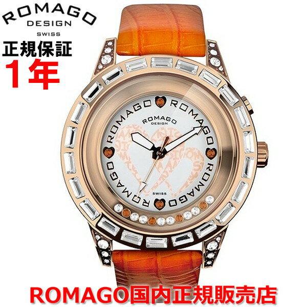 【国内正規品】 ROMAGO DESIGN/ロマゴ デザイン メンズ レディース 腕時計  Romance/ロマンスシリーズ  RM017-0176ST-OR   【10P03Dec16】  通常黒く覆い隠されている文字盤は時間を見る角度(45°)に腕を傾けた時、内蔵イルミネーションが輝きその姿を現す。