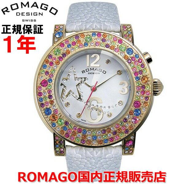【国内正規品】 ROMAGO DESIGN/ロマゴ デザイン レディース 腕時計  Bubble/バブルシリーズ  RM013-1607ST-WH   【10P03Dec16】  通常黒く覆い隠されている文字盤は時間を見る角度(45°)に腕を傾けた時、内蔵イルミネーションが輝きその姿を現す。