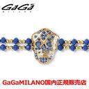 【国内正規品】【雑誌MEN 039 S NON-NO 2016年9月号掲載モデル】GaGa MILANO ガガミラノ Men 039 s Ladies/メンズ レディース It Bracelet/ItブレスレットITB SKULL/スカル YG/BLU