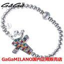 【国内正規品】【雑誌CLASSY 2016年9月号掲載モデル】GaGa MILANO ガガミラノ Men's Ladies/メンズ レディース GB Bracelet/GBブレス GB-CROSS1-WG-MLT/クロス マルチカラー