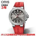 【国内正規品】 ORIS オリス アクイスデイト レリーフ 43.5mm AQUIS DATE メンズ 腕時計 ウォッチ 自動巻き ダイバーズ ラバーベルト グレー文字盤 01 733 7730 4153-07 4 24 66EB